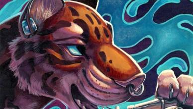 Графика: Тигр и кальян
