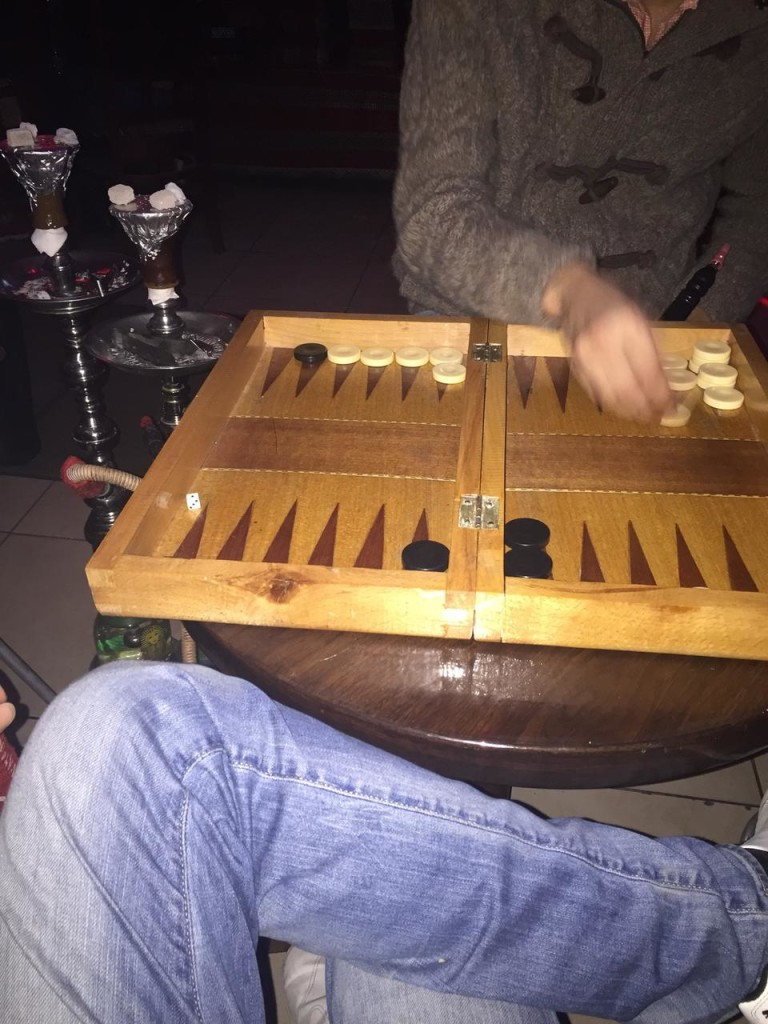Backgammon at Jasmin Lounge