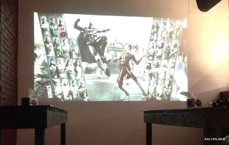 Playstation 4 на проекторе в кальянной Тяга