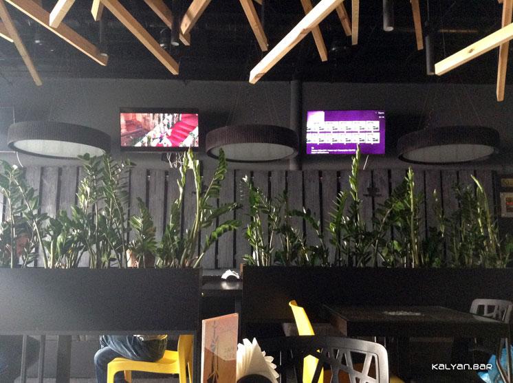 Coffeetoria lounge Киев. Интерьер первого зала.