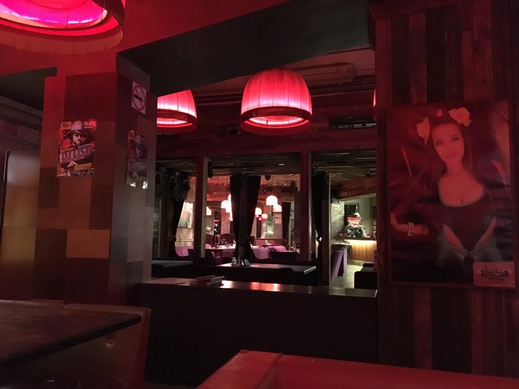 Интерьер кальянной Shishas Sferum Bar на Новом Арбате