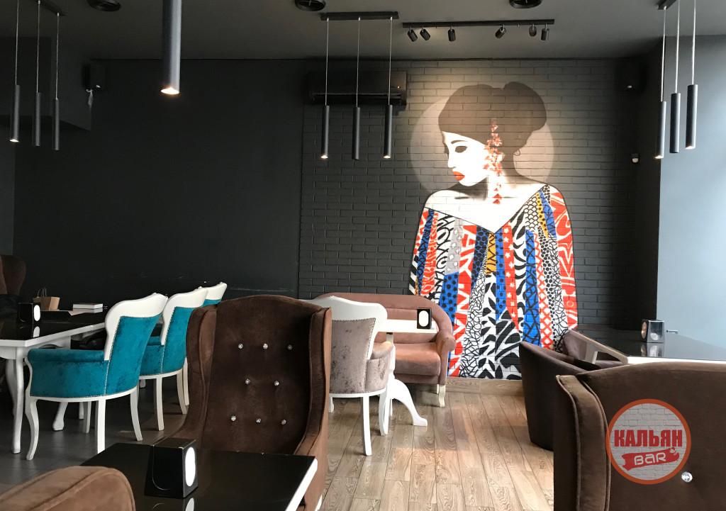 Оформление стен в Stoner Bar Киев