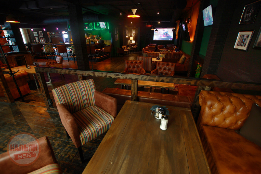 Интерьер в кальянной Hardy Lounge Bar на Братиславской