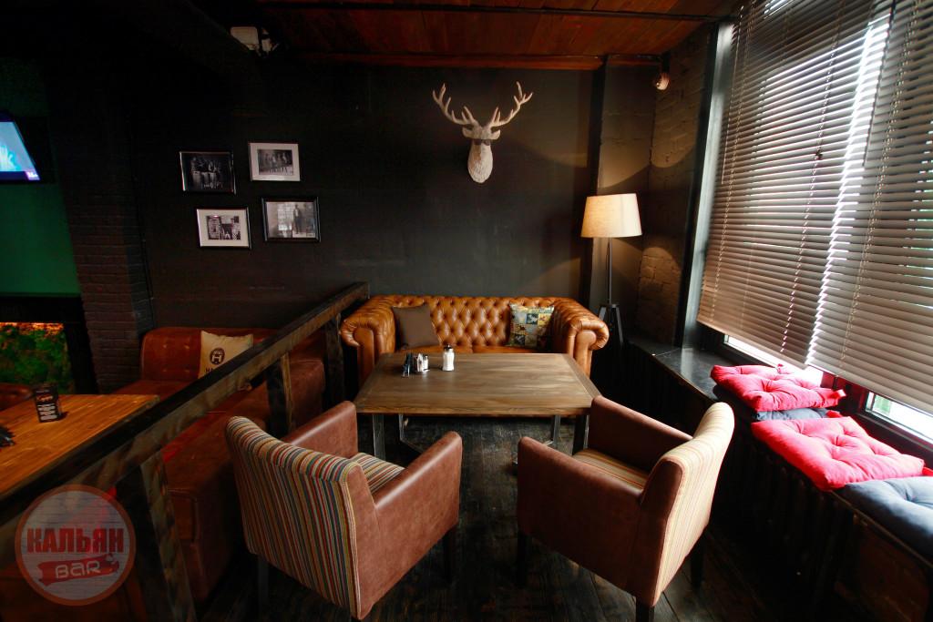 Интерьер кальянной Hardy Lounge Bar на Братиславской