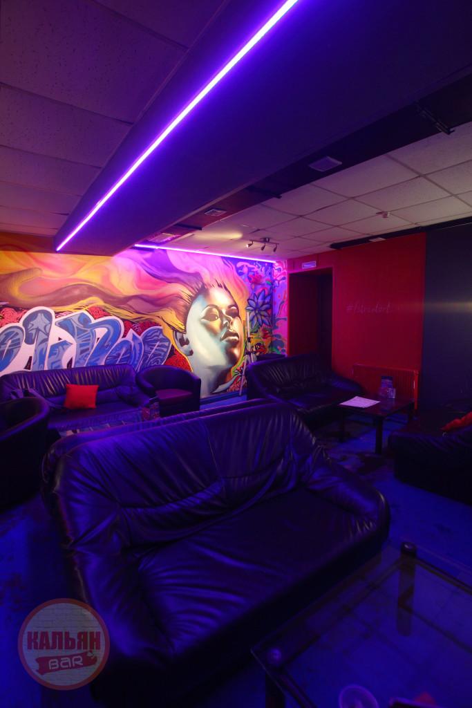 Интерьер кальянной F-Lounge на Бауманской