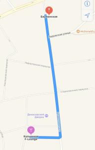 Маршрут к кальянной F-StreetArt от метро Бауманская