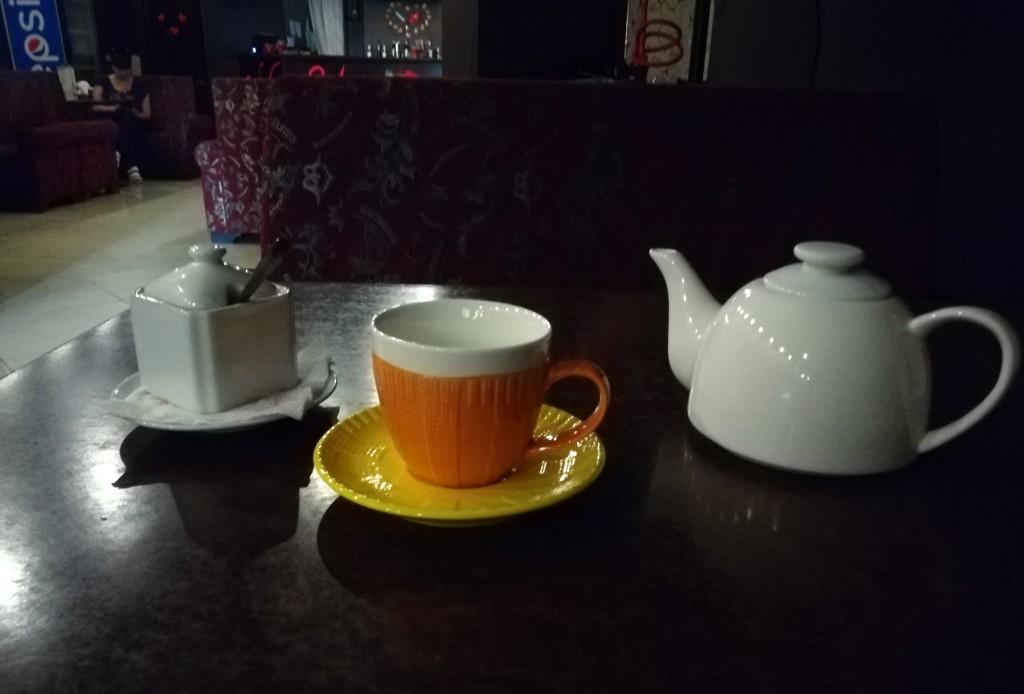 Подача зелёного чая в HabiBar