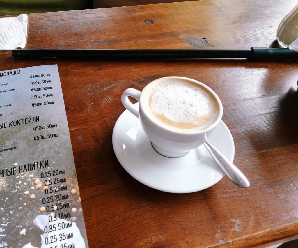 Капучино в Huqqa Bar, цена – 25 грн