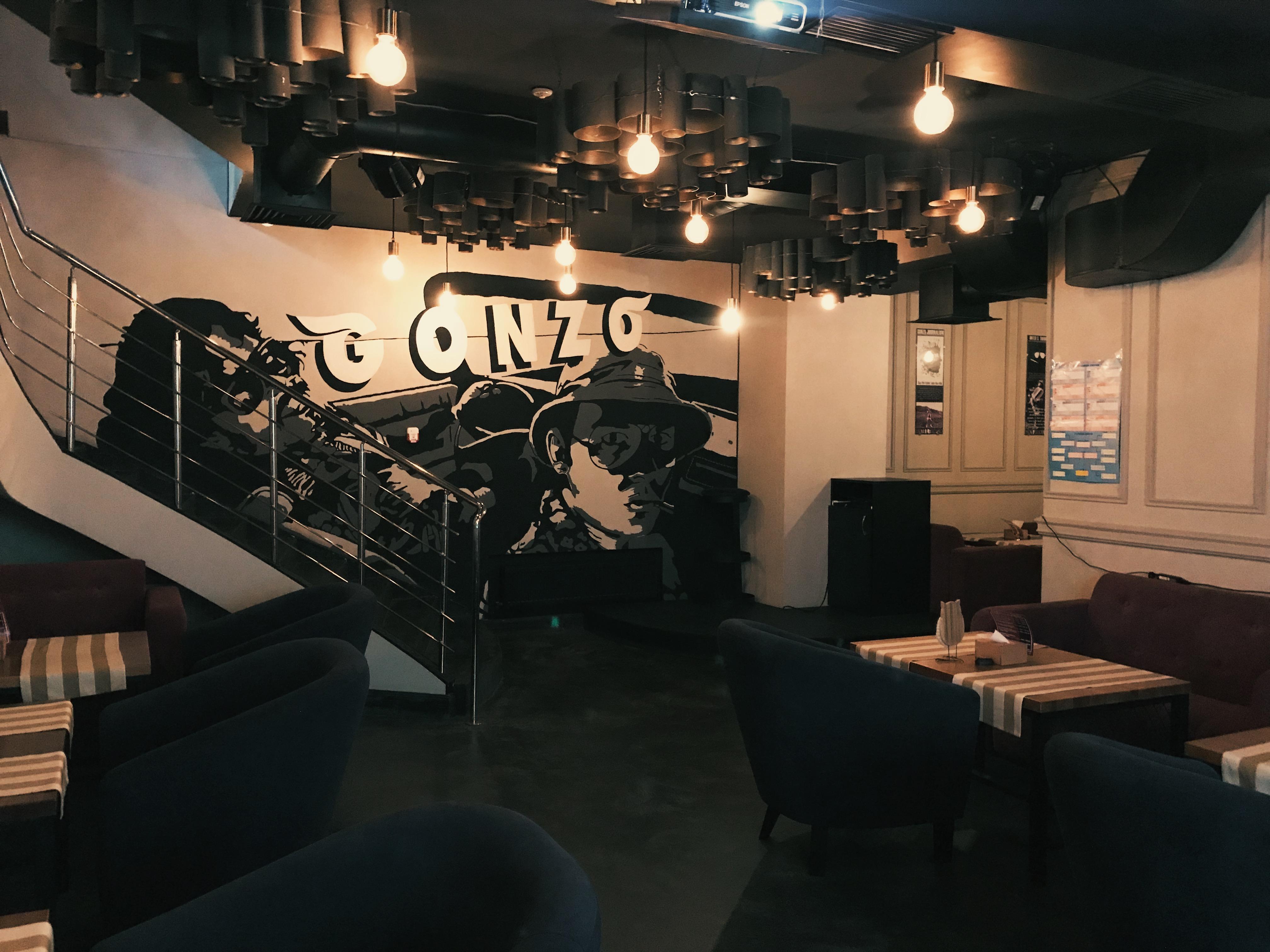 Второй (подвальный) зал Гонзо бара