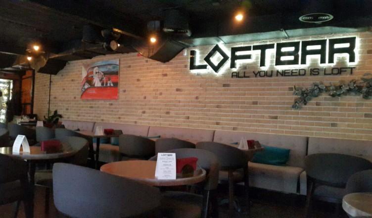 Loft Bar - вывеска внутри зала