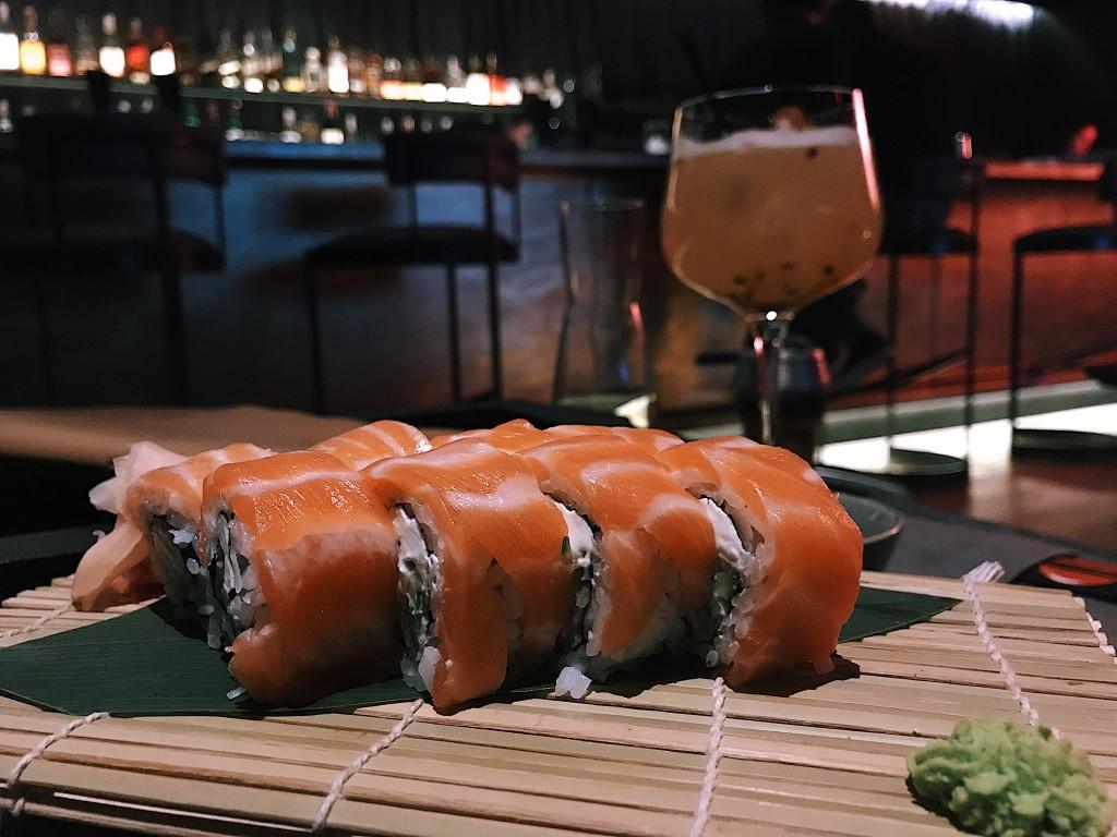 Суши, которые мы заказали в Hookah Space