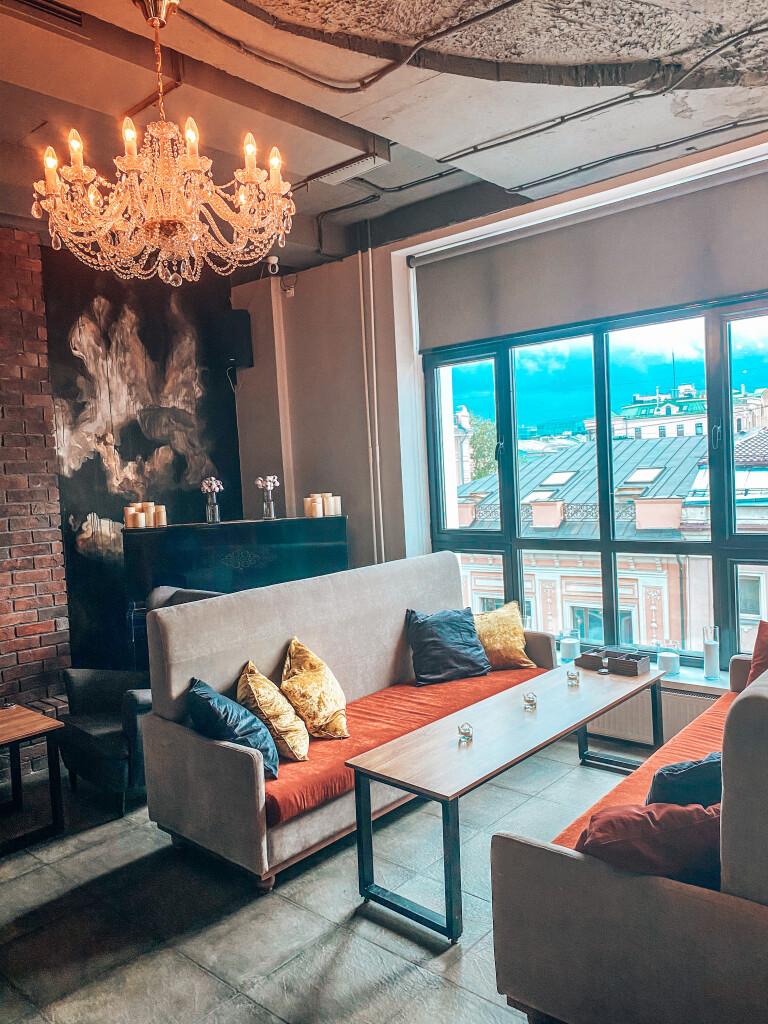 Панорамные окна с видом на Москву — Rehab Lounge
