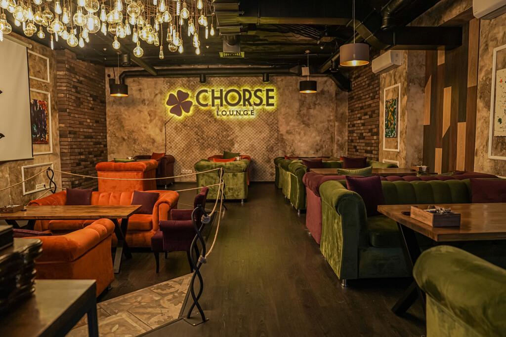 Интерьер кальянной Chorse Lounge: мягкие и теплые тона