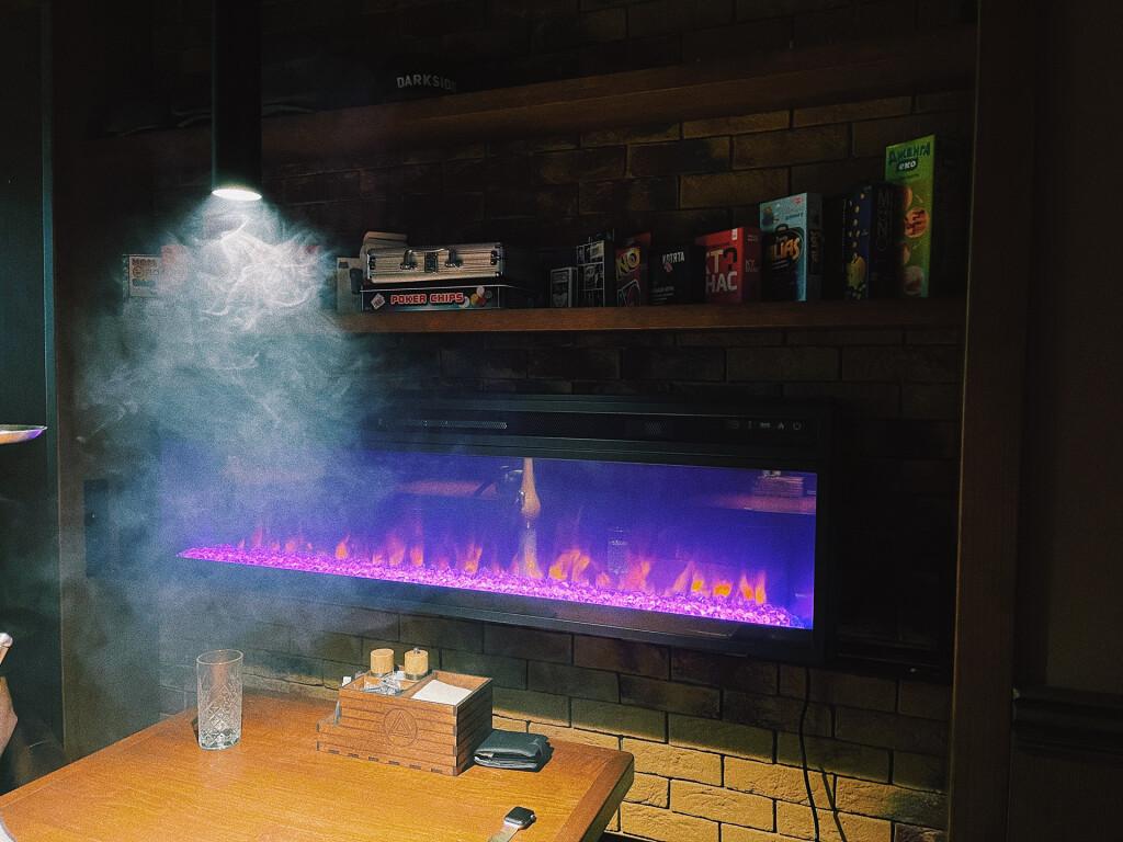 Декоративный камин, который согреет душу холодными лондонскими вечерами. Woody Lounge Киев